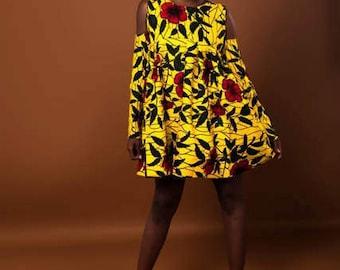 Peak Shoulder Dress