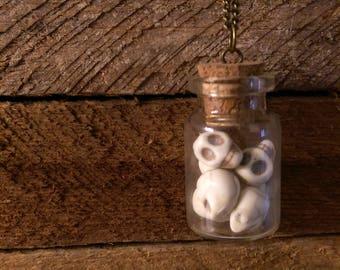 Skull Bottle Necklace