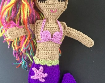 Crochet Ragdoll Mermaid