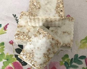 Goats Milk Honey and Oat Soap Slice