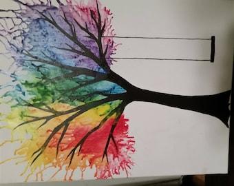 Crayon Art Tree 20 x 16