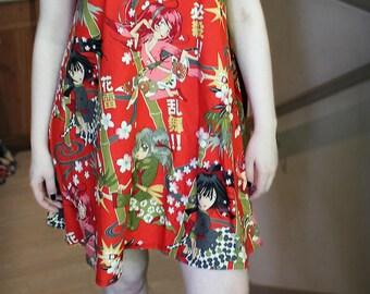 Swing Dress - Anime Girls fabric