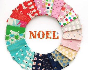 Noel Fat Quarter Bundle - by Cotton + Steel - complete collection, 23 prints - 100% unbleached quilting cotton