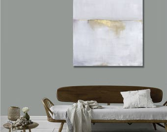 Best Selling Items, Gray Abstract Landscape Canvas Print, Modern Minimalist, Best Seller, Gray Gold Art, Trending, Most Popular Items