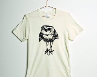 Burrowing Owl Tee- Men's- Eco Natural