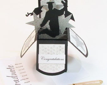 Graduation Pop Up Card / High School Graduation Card / College Graduation Card / Gift Card Holder