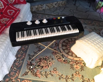 Miniature Keyboard, Miniature Musical Instrument, Mini Accessory, Decor, Mini Keyboard on Stand