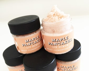 Lip Scrub, Maple Pancakes Lip Scrub, Lip Balm, Lip Polish, Argan Butter Polishing Lip Scrub
