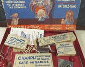 RESERVED for KRISTEN  -  Vintage Chandu White King Magic Trick Set, Original Box, Instructions, Complete