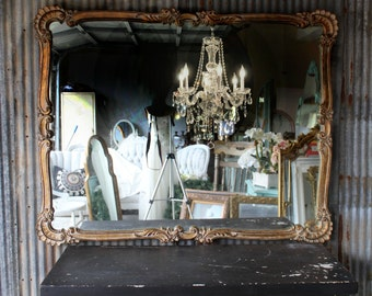 V A N I T Y , Vintage Bathroom Mirror Shabby Chic Shells