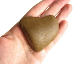 Natural Heart Shaped Stone - River Beach Rock - Valentines Day Gift