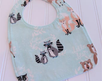 Baby Bib/Infant--18 mo./Oh Hello in Meadow/Organic Fleece Back