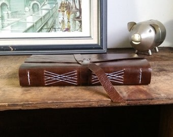 Large Leather Journal, Dark Brown, Hand-Bound 6 x 9 Journal by The Orange Windmill on Etsy 1776