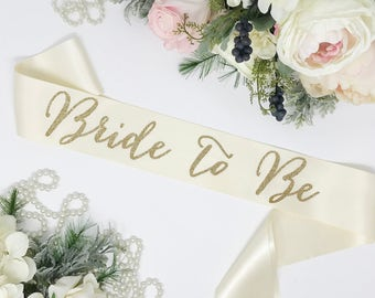 Bride To Be Sash - Bachelorette Sash - Bride Gift -Bachelorette Party - Bridal Shower Sash - Bachelorette Party Accessories