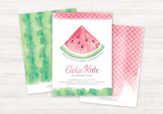 watermelon invitation printable birthday invitations, Birthday invitations