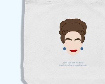 joan crawford tote bag - joan crawford art - joan crawford illustration - mommie dearest artwork - don't fuck with me fellas