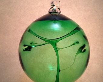 Emerald Green Blown Glass Witches Ball