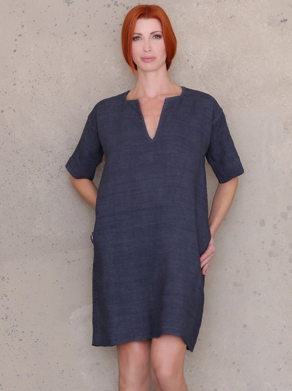Women Sewing Pattern Linen Dress Pattern Tunic Dress