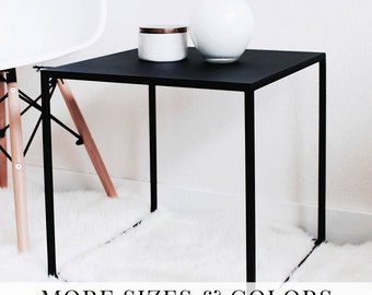 Side Table Black Coffee Table Side Table Modern Cube Table Bed Side Table Bedside Tables Nightstand Night Stand black end table #pcd2