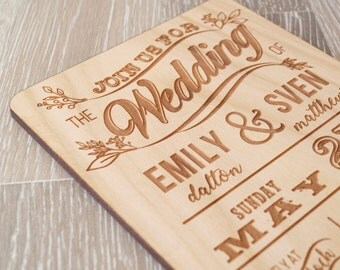 wooden invitations etsy Real Wood Wedding Invitations wedding invitation, rustic wooden wedding invitation, real wood wedding invite, laser engraved invitation real wood wedding invitations