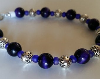 Purple Tigerseye Bracelet