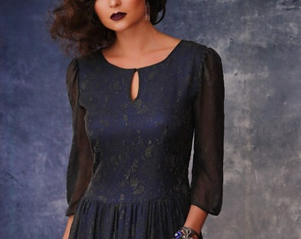 Maxi dress, evening dress, evening gown, long dress, black dress, grey dress, chiffon dress