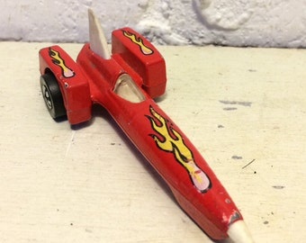 Hot Wheels Evil Knievel Rocket Car 1979 Red Mattel  Malaysia Vintage Die-cast Toy Car