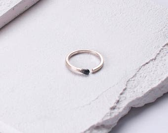 Matchstick Unlit Sterling Silver Ring PERFECT MATCH Valentines Matches Jewelry Handmade in Latvia of Recycled Sterling Silver. One of a Kind