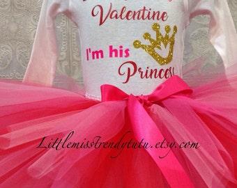 Valentines's Tutu Set, Tutu and Shirt, Valentines Shirt, Red and Pink Tutu, Valentines Tutu and Shirt Set, Valentines, Girls Tutus