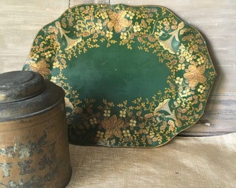 Antique hand painted tole tray.