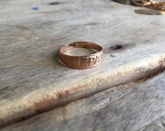 Victorian 9ct Mizpah ring size 9