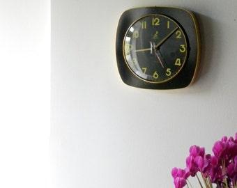 Vintage French JAZ Wall Clock