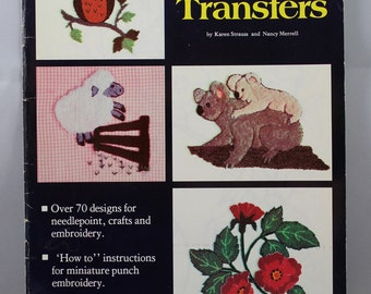 Iron on Embroidery Transfers Book