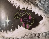 The All-Seeing 3 Eyed Crow Enamel Pin