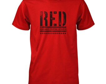 R.E.D. Shirt - Remember Everyone Deployed | Front Print