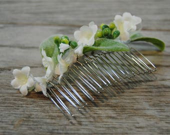 Lily of the Valley Bridal Hair Comb - Lily of the Valley Wedding Comb - Lily of the Valley Floral Comb - Lily of the Valley Hair Flowers