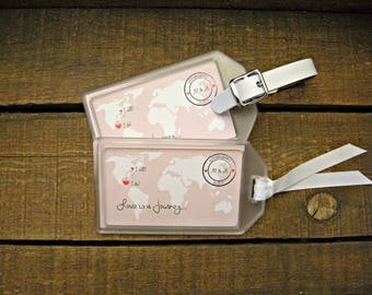 Luggage Tag Favors for Destination Weddings , Bridal Showers , Engagement Parties , Out of Town Bags , Welcome Bags