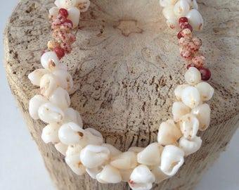 Hawaii Niihau Shell Bracelet Momi and Kahelelani Shells Pikake style