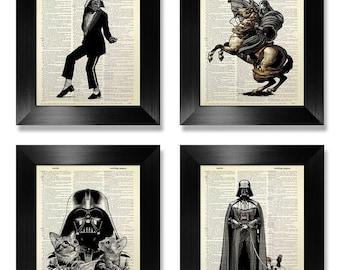Star Wars Darth VADER Poster, STAR WARS Poster, Star Wars Art, Star Wars Wall Art, Star Wars Print Set, Star Wars Decor, Darth Vader Hobbies