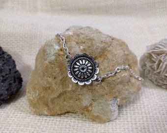 Buy 2 Get 1 FREE Basic Flower Necklace, Silver Flower Necklace