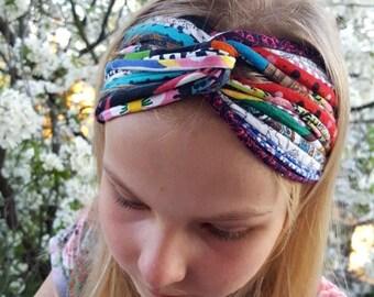 Kids Turban Headband Twisted Girls Headband Knoted Flower Headband Spring headband for kids,, Baby Headbands, Girls Headband, Kids Dreadband