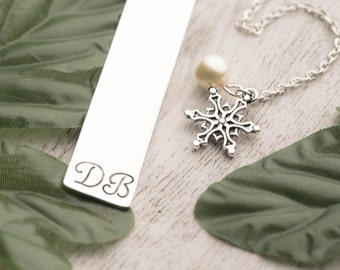 christmas bookmark or graduation bookmark as Gifts for readers - personal bookmark-initial bookmark as xmas boyfriend gift-Engraved Bookmark