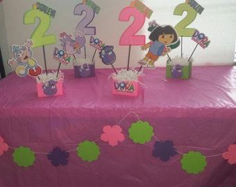 Dora Centerpieces. Dora Birthday Decorations