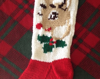 2017 Traditional Rudolph Stocking - Personalized