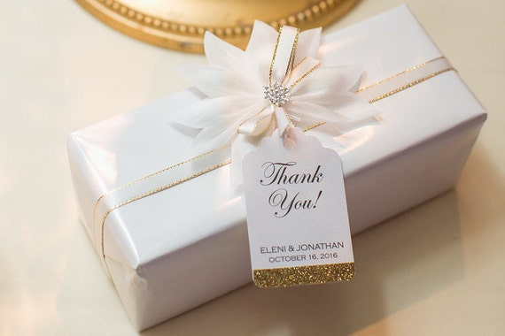 Wedding Favor Tags Personalized Thank You