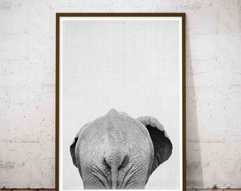 Elephant Print Large Modern Prints Bathroom Funny Decor Minimalist Large Art Safari
