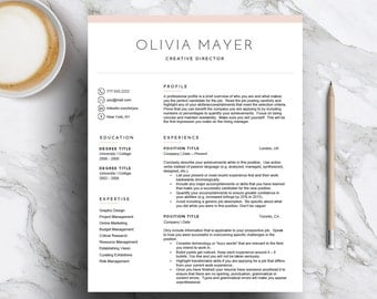creative resume template for word pages 1 2 3 page cv template - Sample Cover Page For Resume