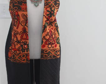 Mirror Work Long Vest
