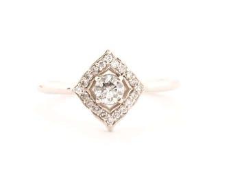 Diamond Vintage Inspired Ring 14k