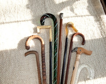 Antique Walking Stick, With Silver  Head